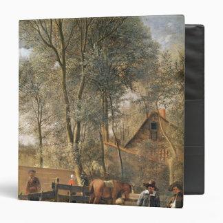 Skittle Players outside an Inn, c.1660-63 3 Ring Binder