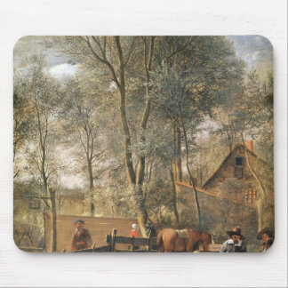 Skittle Players outside an Inn, c.1660-63 Mouse Pad
