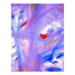 Skitzoeffective 101 Purple Abstract Artwork Personalized Letterhead