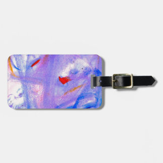 Skitzoeffective 101 Purple Abstract Artwork Bag Tag