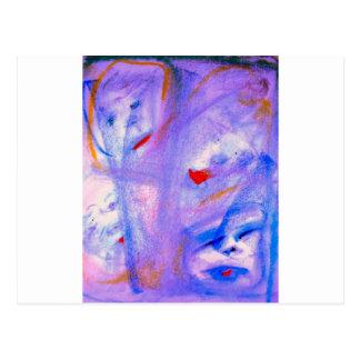 Skitzoeffective 101 Purple Abstract Artwork Postcard