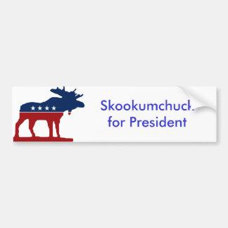 Skkokumchuck for President Bumper Sticker