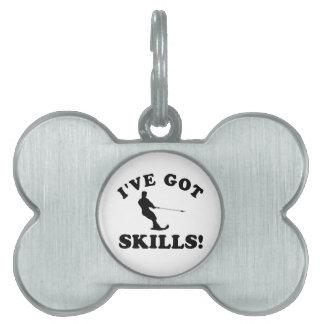 sklls 1 png del esquí acuático placa de nombre de mascota