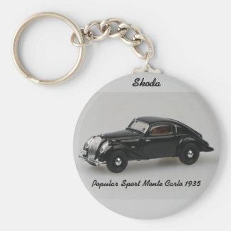 Skoda Popular Sport Monte Carlo 1935 Keychain