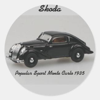 Skoda Popular Sport Monte Carlo 1935 Sticker
