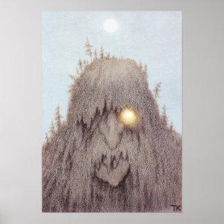 Skogtroll [duende del bosque] póster