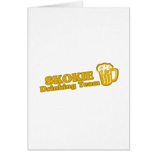 Skokie Drinking Team tee shirts Greeting Card