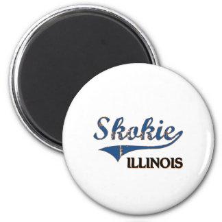 Skokie Illinois City Classic 2 Inch Round Magnet