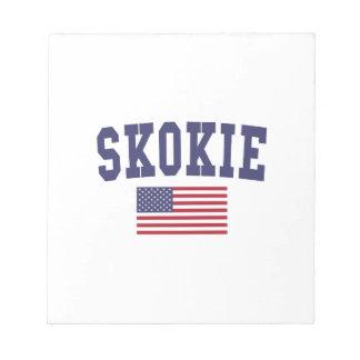 Skokie US Flag Notepad
