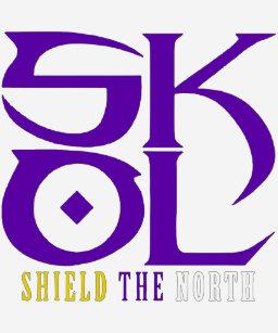 5c8830ab Skol Vikings Shield The North Salute Chant Minneso T-Shirt