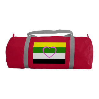 SKOLIOSEXUAL PRIDE FLAG GYM DUFFEL BAG