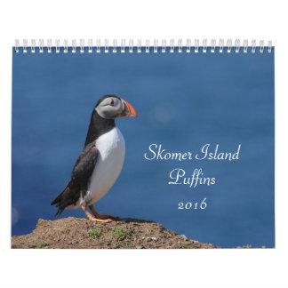 Skomer Island Puffins 2016 Calendar