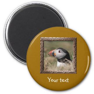 Skomer Island Puffins 2 Inch Round Magnet