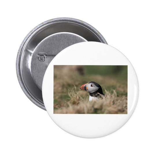 Skomer Island Puffins Button