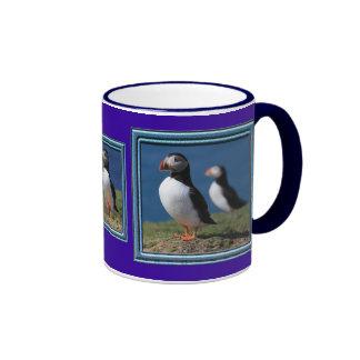 Skomer Island Puffins Ringer Mug