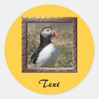 Skomer Island Puffins Round Sticker
