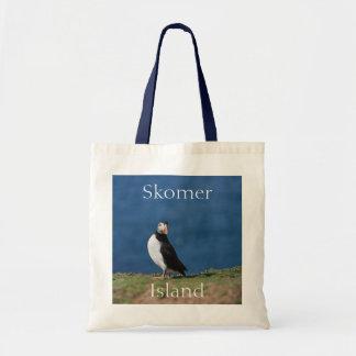 Skomer Island Puffins Tote Bag