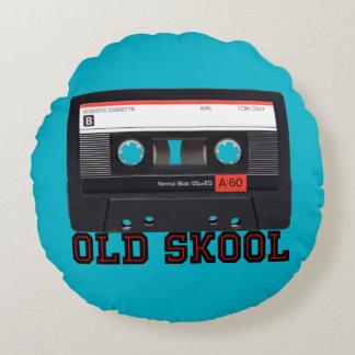 Skool viejo - cinta de casete cojín redondo