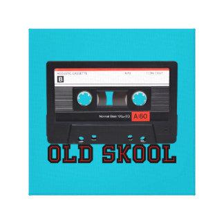 Skool viejo - cinta de casete impresiones en lona estiradas