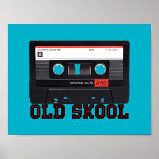 Skool viejo - cinta de casete póster