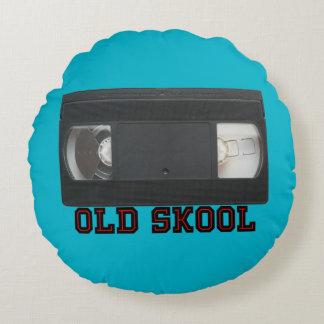 Skool viejo - cinta de VHS Cojín Redondo