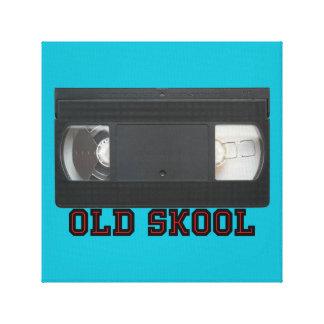 Skool viejo - cinta de VHS Impresion En Lona
