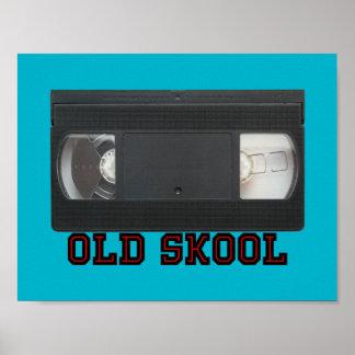 Skool viejo - cinta de VHS Póster
