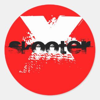 Skooter x classic round sticker