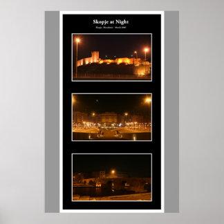 Skopje at night posters
