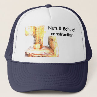 skrew, Nuts & Bolts of construction Trucker Hat
