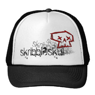 skribbleskull trucker trucker hat