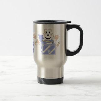 Skrunchkin Cat Elliot In Blue Box Coffee Mugs