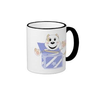 Skrunchkin Cat Elliot In Blue Box Coffee Mug