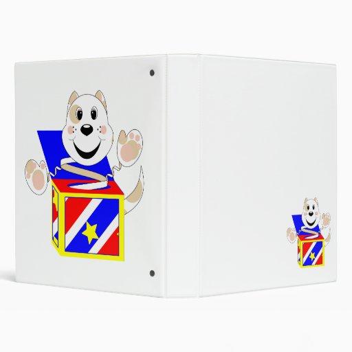 Skrunchkin Cat Elliot In Colorful Box 3 Ring Binder