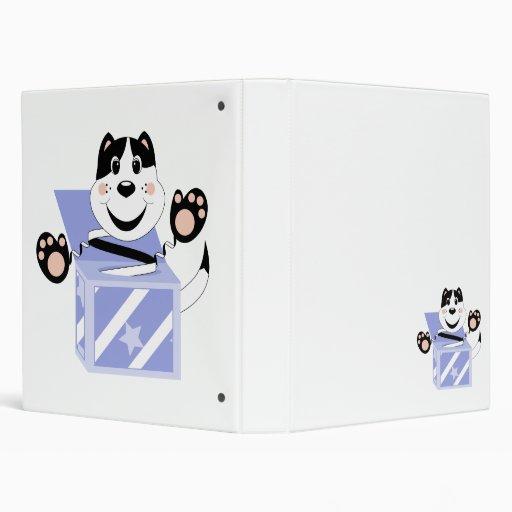 Skrunchkin Cat Mittens In Blue Box Binder