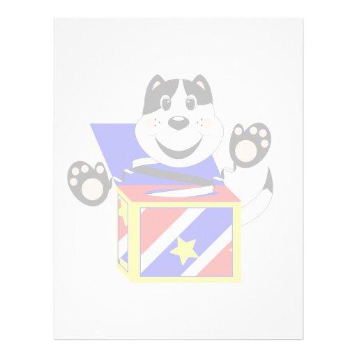 Skrunchkin Cat Mittens In Colorful Box Personalized Letterhead