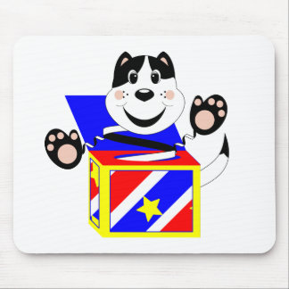 Skrunchkin Cat Mittens In Colorful Box Mouse Pad