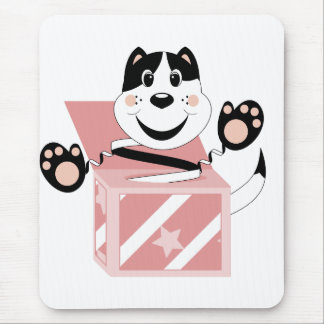 Skrunchkin Cat Mittens In Pink Box Mouse Pad
