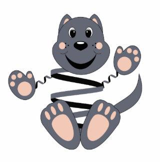 Skrunchkin Cat Smokey Photo Sculpture Ornament