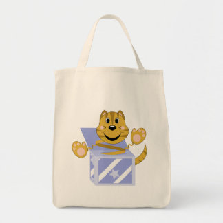 Skrunchkin Cat Toby In Blue Box Tote Bag