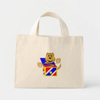 Skrunchkin Cat Toby In Colorful Box Mini Tote Bag