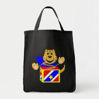 Skrunchkin Cat Toby In Colorful Box Tote Bag