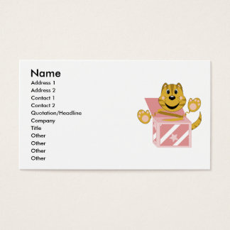 Skrunchkin Cat Toby In Pink Box Business Card