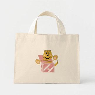 Skrunchkin Cat Toby In Pink Box Mini Tote Bag