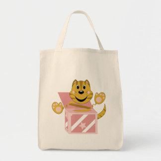 Skrunchkin Cat Toby In Pink Box Tote Bag