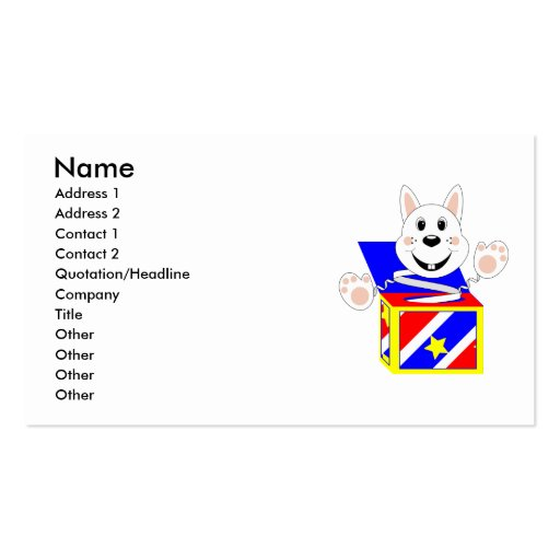 Skrunchkin Rabbit Cotton In Colorful Box Double-Sided Standard Business Cards (Pack Of 100)