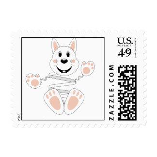 Skrunchkin Rabbit Cotton Postage Stamps