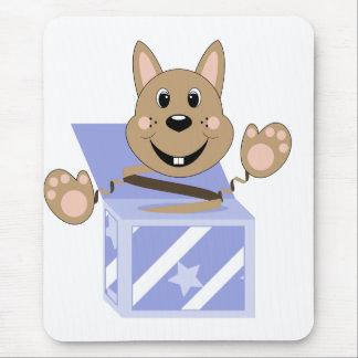 Skrunchkin Rabbit Fudge In Blue Box Mouse Pad