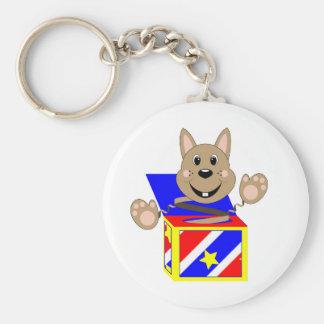 Skrunchkin Rabbit Fudge In Colorful Box Basic Round Button Keychain