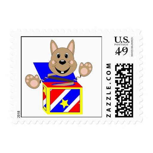 Skrunchkin Rabbit Fudge In Colorful Box Stamp